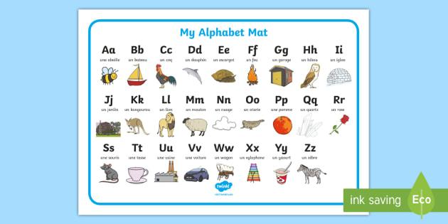 Alphabet A To Z French Word Mat Teacher Made