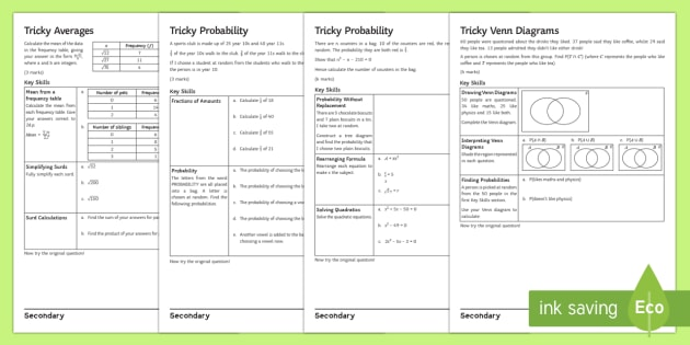 GCSE Probability Questions: Problem-Solving - KS4 Maths