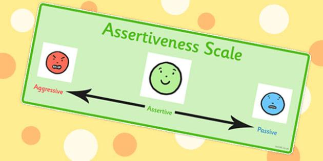 Assertiveness Scale Teacher Made