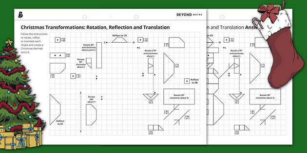 Christmas Transformations: Rotation, Reflection and Translation