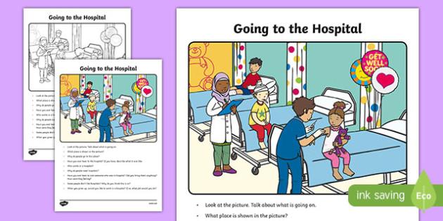 The Hospital Oral Language Worksheet Worksheet Irish