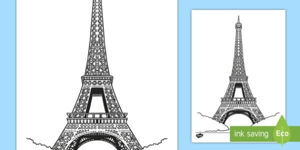 eiffel tower coloring pages # 14