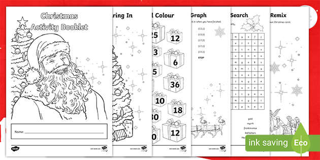 Christmas Activity Ks2 Booklet Teacher Made