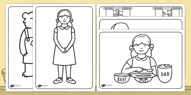 free!  goldilocks and the three bears colouring sheets