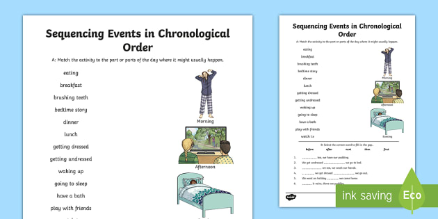 Sequencing Activities | Chronological Order Of Events