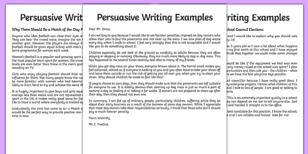 KS2 Example Of Persuasive Writing Primary Resources