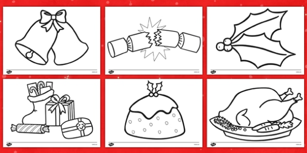 Christmas Pictures To Colour In Teacher Made Resource Pack