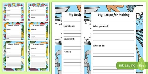 recipe writing frame | Frameswalls.org