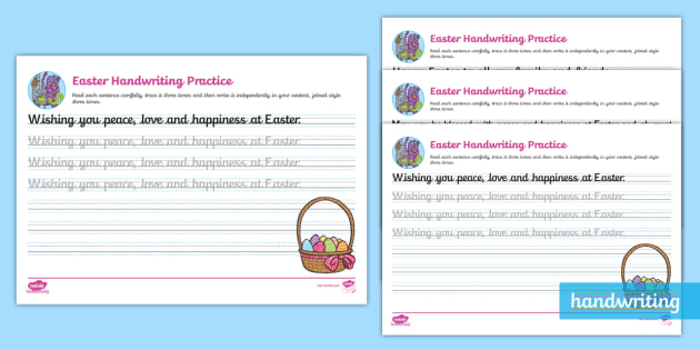 Easter Continuous Cursive Worksheet
