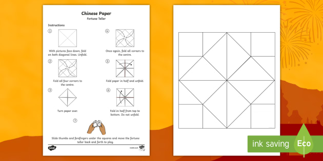 Chinese Fortune Teller Template