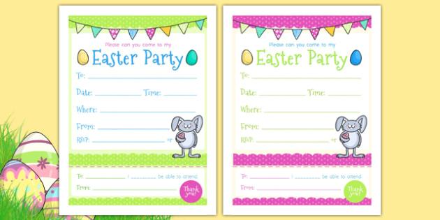cartes d invitation la fete de paques