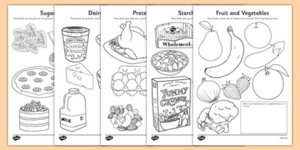 healthy food coloring pages # 9