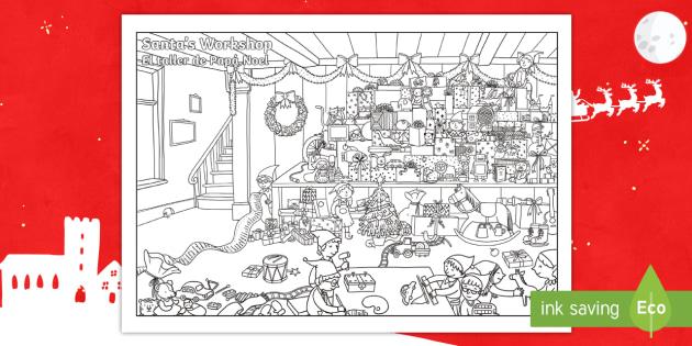 Crazy Christmas Challenge Coloring Page English Spanish