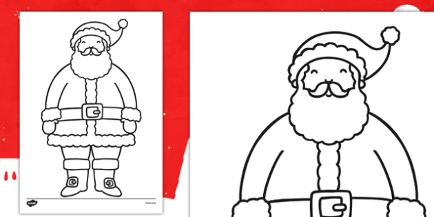 Father Christmas Coloring Sheet Teacher Made