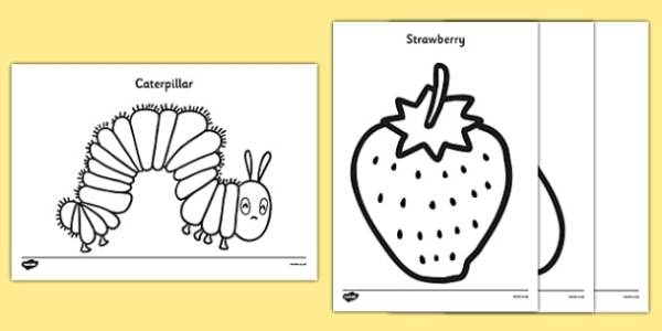 the very hungry caterpillar coloring pages # 3