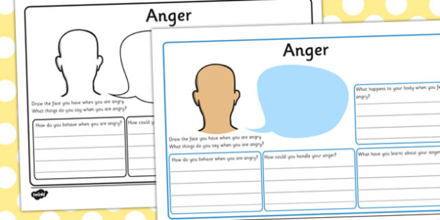 Anger Management Activity Sheets