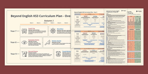 Beyond's curriculum map for KS3 English