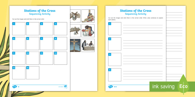 Stations Of The Cross Individual Sequencing Activity
