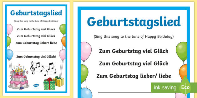 Birthday Song Lyrics German Teacher Made