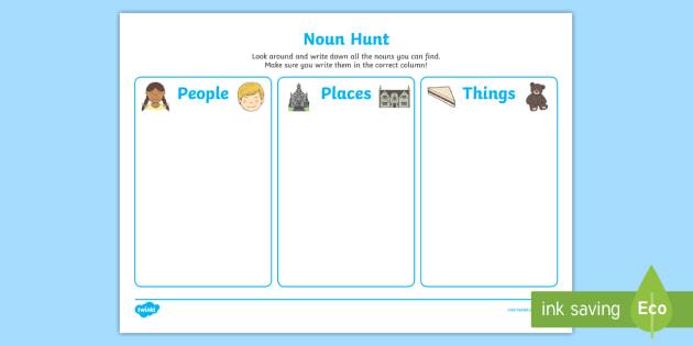 Noun Hunt Worksheets Ks1 Literacy