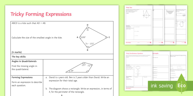 GCSE Algebra Questions: Problem Solving - KS4 Maths
