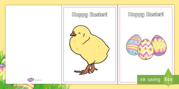 Easter Card Templates Teacher Made