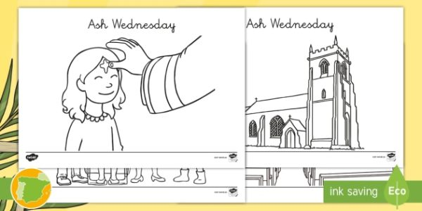 ash wednesday coloring pages # 40
