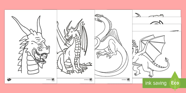 Dragon Colouring Sheets Mindfulness Primary Resources