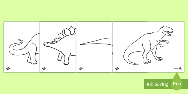 Free Dinosaur Colouring Pages Teacher Made