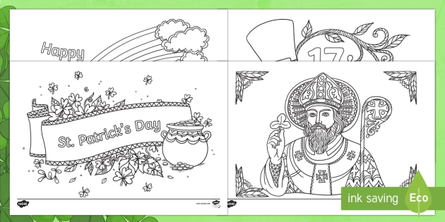 St Patrick S Day Mindfulness Colouring Pages Teacher Made