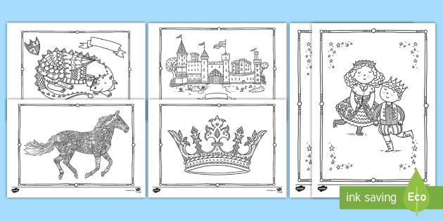 Castles And Knights Mindfulness Coloring Pages