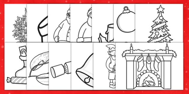 Christmas Colouring Printable Templates Ks1 Teacher Made