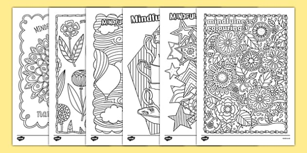 Mindfulness Colouring Sheets Pack Mindfulness Adult