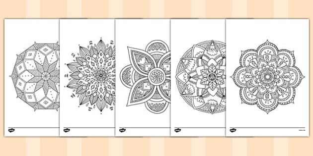 Adult Colouring Mandala Themed Mindfulness Colouring