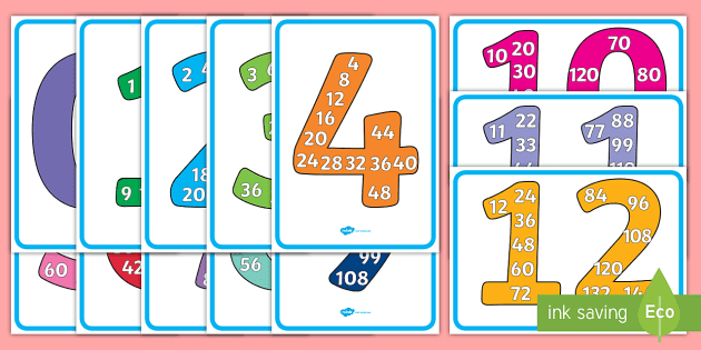 free multiples posters 1 to 12