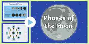 Phases of the Moon PowerPoint  powerpoint, power point, interactive