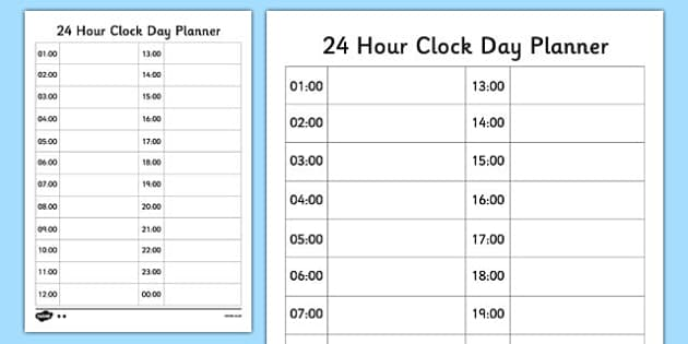 printable school schedule template espanol
