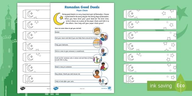 Ramadan Decorations Paper Chain Activity