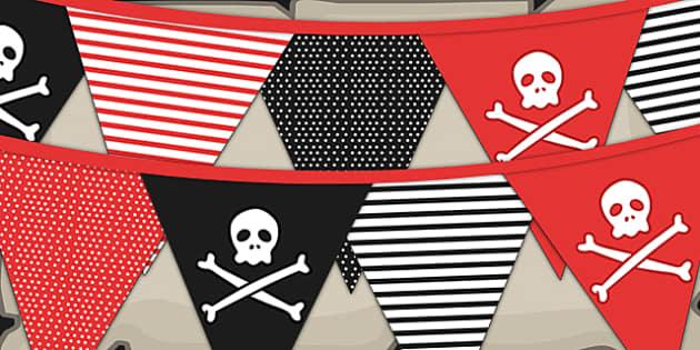 Pirate Classroom Transformation Bunting Teacher Made