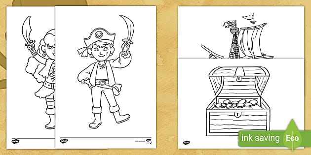 Free Pirate Colouring Pages Teacher Made