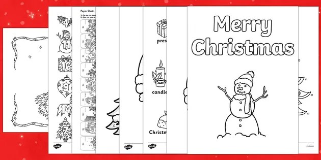 Free Top Ten Christmas Coloring Sheets Pack