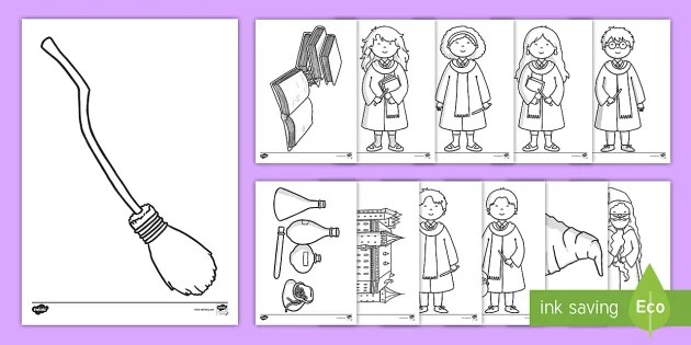 Wizard School Coloring Pages Teacher Made
