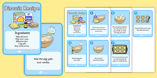 Biscuit Recipe Cards Biscuit Baking Recipe Recipe