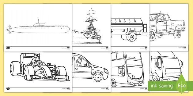 Transport Coloring Pages Teacher Made