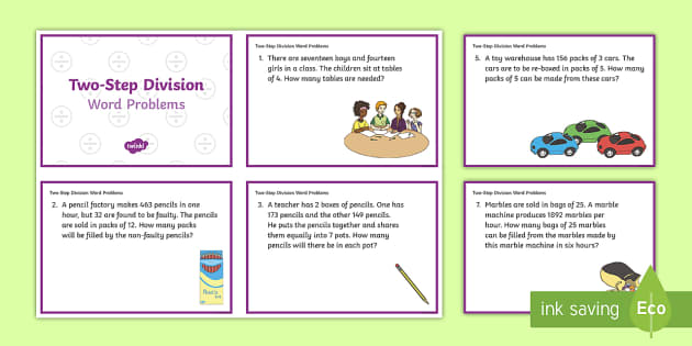 2nd Grade Word Problem Cards