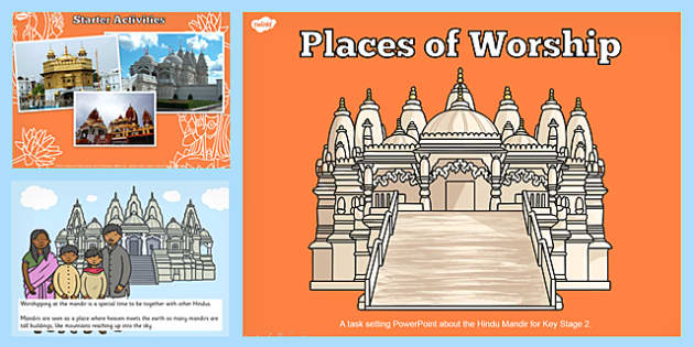 Places Of Worship Hindu Mandirs Ks2 Powerpoint