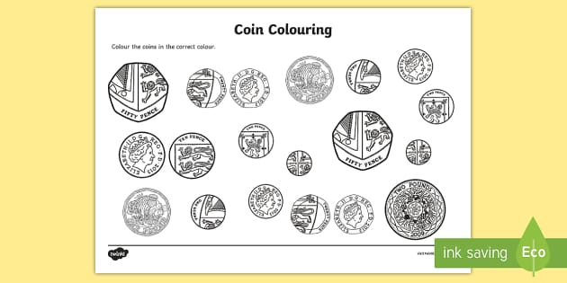 Coins Colouring Worksheet Activity Sheet Money Coins