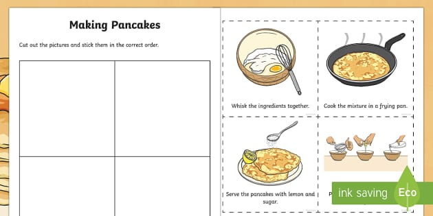 Making Pancakes Sequencing Worksheet Worksheet