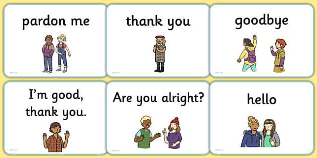 Greetings A5 Flashcards English