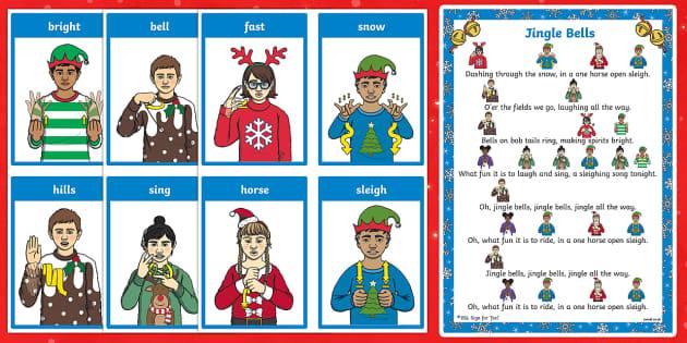 Bsl Jingle Bells Song Sheet Song Teacher Made